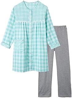 [nissen(ニッセン)] ダブルガーゼ チュニック パジャマ パンツ スムース 大きいサイズ レディース セット組