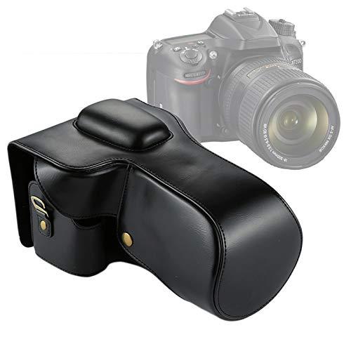YANTAIANJANE Accesorios de la cámara Bolsa de Cuerpo Completo PU de Cuero para Nikon D7200 / D7100 / D7000 (18-200/18-140mm Lente) (Color : Black)