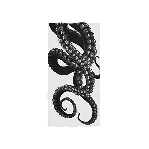 Daisy18 Toalla de baño Absorbente de Monster Kraken Gótico, Multiusos, para baño, Hotel, Gimnasio y SPA, 27.5 x 17.5 Pulgadas