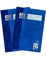 Oxford 100050313 zeszyt A4 w linie z krawędzią, Lineaur 27, niebieski, 16 arkuszy, 2 sztuki