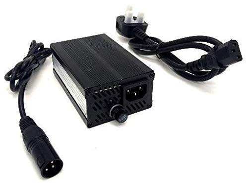 24v / 5A / 60w Mobility Scooter/Electric Wheelchair/Golf Buggy Charger Power Supply with 3-Pin XLR Connector and UK 3-Pin Lead - Fully Automatic - 3 Stage Charge Cycle - Connect and Forget FY2405000