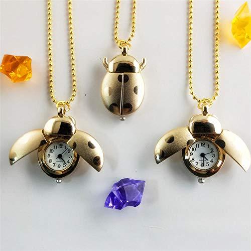 Nwarmsouth Broche Movimiento Cuarzo Clip Reloj,Reloj de Bolsillo con botón de Collar, Reloj de Bolsillo para niños de Dibujos Animados-1,Reloj de Bolsillo Medico de Enfermera