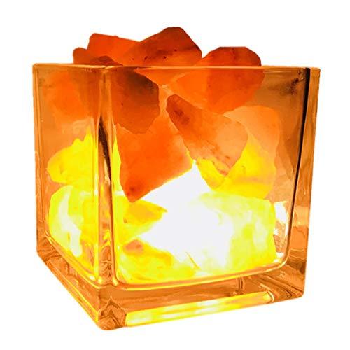 SHIJIE1701AA Pasillo luz de Noche Cristal Lámpara de Sal Mineral Regulable de Iones Negativos Alimentar luz de la Noche Lámpara de Sal Lámpara de cabecera Inicio Regalos Luz Nocturna