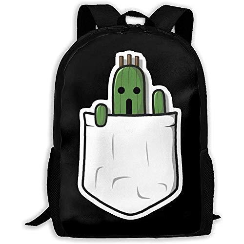 Hochleistungs-Unisex-Rucksack für Erwachsene Little Pocket Cactuar Bookbag Reisetasche Schultaschen Laptoptasche