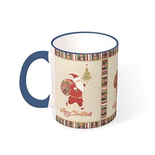 XJJ88 Kerstmis Bloem Water Thee Mok Bekers met Handvat Porselein Grappige Mok, voor Thuisgebruik (11 OZ)