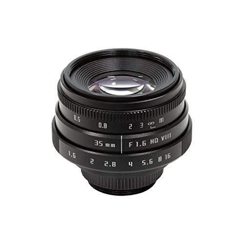 Arducam 35 mm F1.6 Objectif sans miroir pour appareil photo Raspberry Pi HQ avec adaptateur C-CS