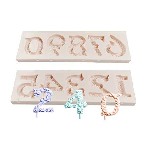 0–9 Digitale Silikonform Buchstaben Fondant Lutscher Käse Stick Kuchen Dekoration DIY Kerze Form Backwerkzeug Zucker Handwerk Utility zu verwenden