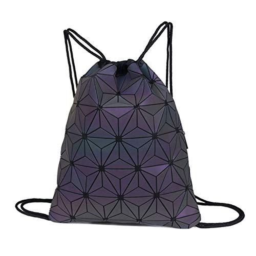uBaby - Bolsa de deporte con cordón luminoso, diseño geométrico, para gimnasio, para exteriores, viajes, universidad