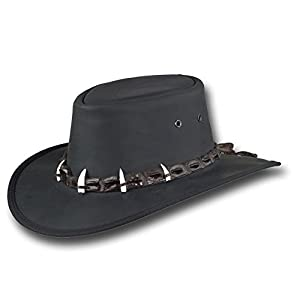 Barmah Hats Outback Crocodile Leather Hat – Item 1033