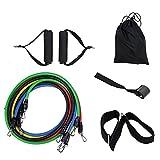 QXF-DLSS equipo fisio entrenamiento Conjunto de Bandas de Resistencia Al Ejercicio y Entrenamiento Físico, Yoga Pilates, Equipo de Crossfit, Ejercicios de Cuerda Elástica de Colores, Cuerda de Tracció