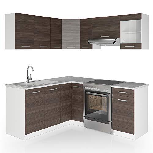 Cucina Vicco Cucina componibile ad L Blocco Cucina su misura Cucina completa 167x187 cm Antracite
