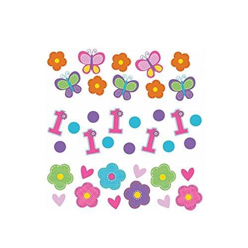 NET TOYS Confettis Anniversaire Petites Filles 34 g Cotillons Anniversaire d'enfant Confettis de fête Décoration de Table fête Fille confettis en Papier fêtes pour Fillettes Accessoires Anniversaires