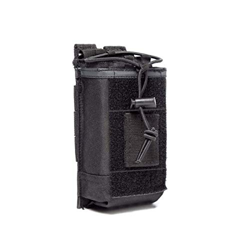 Radio Case/Radio Holder Molle Tactical Radio Holster Military Heavy Duty Radios Pouch Bag for Two Ways Walkie Talkies Compatible with Bags/Packs/Duffels by LUITON