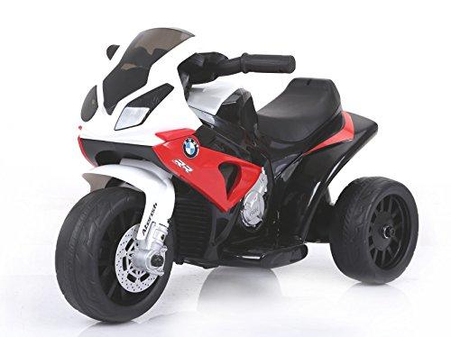 RIRICAR BMW S 1000 RR Elektro Dreirad, Batteriebetriebenes Motorrad, 3 Räder, lizenziert, 1x Motor, 6V Batterie, Rot
