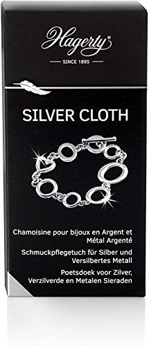 Hagerty Silver Cloth jewellery cleaning cloth 36x30cm I impregnated cotton cloth I effective silver cleaning cloth with tarnish protection for cleaning silver jewellery and silver plated