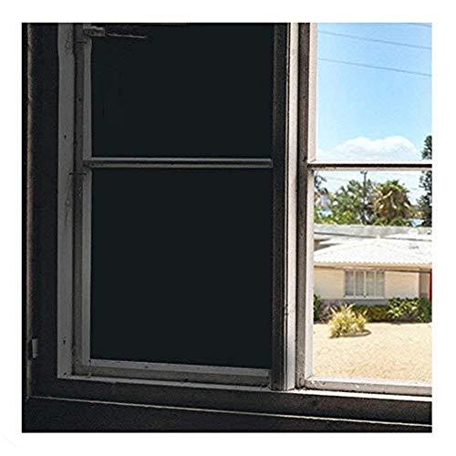 "Soqool Blackout Window Film Privacy Window Vinyl 100% Light Blocking Room Darkener Window Cover - Sun Light Control Window Darkener for Day Sleep/Privacy, No Glue Easy Removal/Install (17.7"" x 78.7"")"