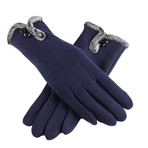 Small-shop-gloves G82 G82 Gants d'hiver en Velours inversé en Cachemire pour Femme, Femme, A Cyan, oneszie