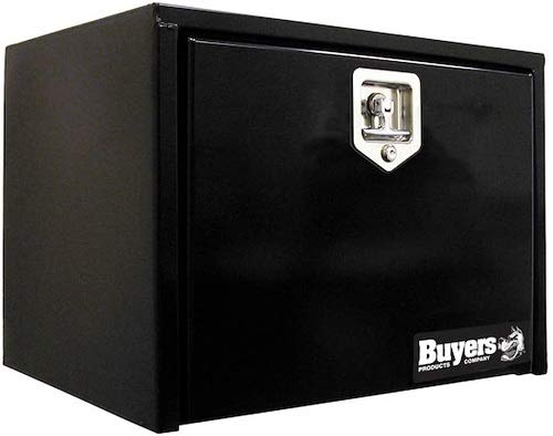 Buyers Products 1703353 14x12x30 Inch Black Steel Underbody Truck Box with T-Handle