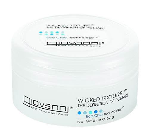 GIOVANNI Wicked Texture The Definition Of Pomade oz. Adds Separation to Shape Smooth Texture for Ease of Use Washes Out Easily No Parabens Color Safe, Multi, Styling Glue, 2 Ounce