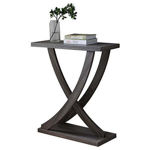 HOUSEHOLD Modern and simple console table solid wood corridor porch table, rectangular side table in hotel restaurant, stable hall table with storage partition, used in living room, bedroom