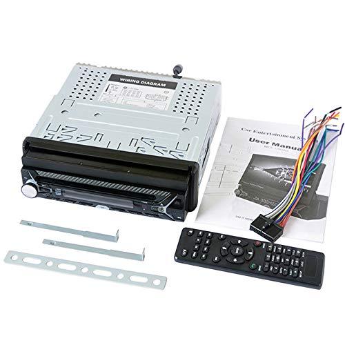 Nrpfell Control del Volante Radio de Coche Reproductor MP5 FM USB TF 1 DIN Control Remoto 12V EstéReo Radio de Coche de 7 Pulgadas Pantalla TáCtil Auxiliar