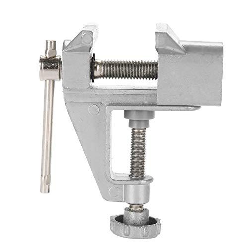 Pequeño tornillo de banco con mordazas móviles Mini tornillo de banco útil para el garaje, útil para el taller