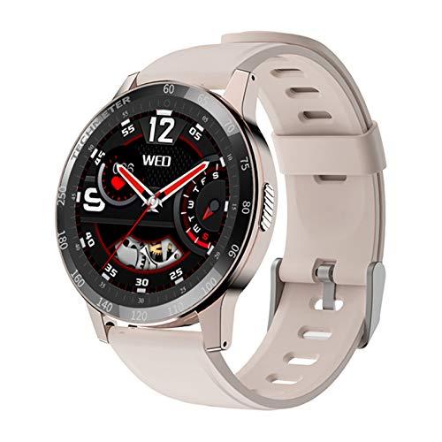 FMSBSC Smartwatch con Pulsómetros Monitor de Sueño Presión Arterial Monitor de Oxigeno / SpO2, Reloj Inteligente Deportivo para iOS y Android,Rosado