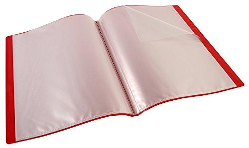 Viquel Encuadernación 40fundas A4, polipropileno rojo