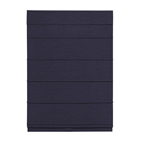 Cordless Room Darkening Fabric Roman Shade (Navy, 31x64)