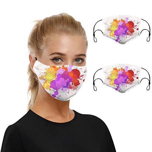 WEXCV 2pcs Mundschutz Face Cover Multifunktionstuch Motorrad Winddicht Atmungsaktiv Mundschutz Halstuch Schön Atmungsaktiv Sommerschal (C3)