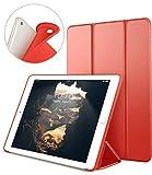 VAGHVEO Funda para Nuevo iPad 9.7' 2018/2017, Cubierta Estuche Plegable [ Auto-Sueño/Estela ] Carcasa TPU Suave Smart Cover para Apple iPad 5ª / 6ª Generacion (A1893 / A1954 / A1822 / A1823), Rojo