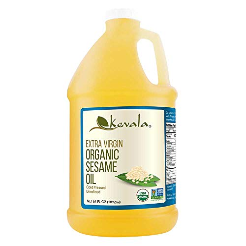 Kevala Organic Extra Virgin Sesame Oil, 1/2 Gallon (64 floz)