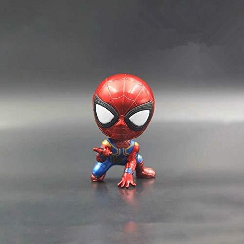 kgftdk Cartoon Für Marvel Avengers Hero Kopfschütteln Spielzeug Dekoration Puppe Armaturenbrett Auto Ornament Autodekoration