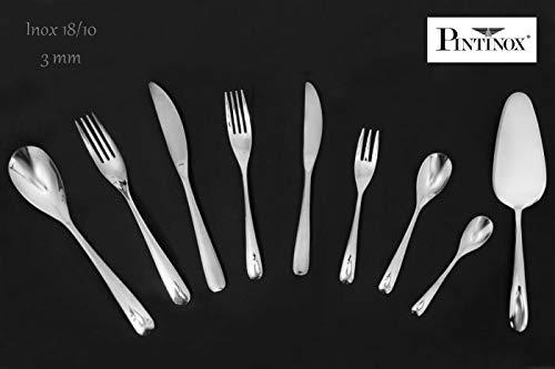 PINTI Lot de 12 en acier inoxydable couteaux de table pivotant
