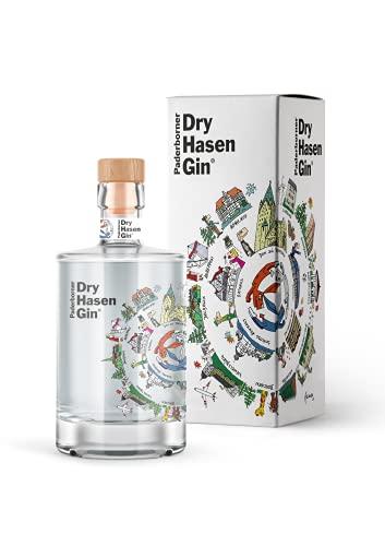 Paderborner Dry Hasen Gin - kreiert mit dem PopArt Künstler Herman Reichold inkl. hochwertiger Geschenkverpackung (1 x 0,5l)