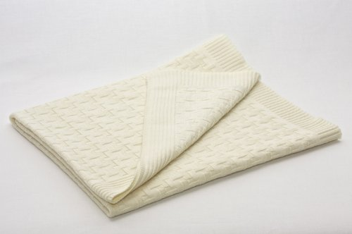 SonnenStrick 0610563327126 babydeken knuffel- en breideken, extra fijn, 80 x 80 cm