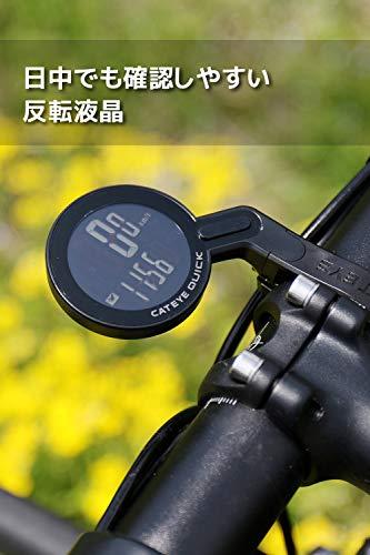 キャットアイ(CATEYE)サイクルコンピュータ[CC-RS100W]QUICKアウトフロントマウントデザイン性に優れた反転液晶自転車用速度計雨天時も使用可能生活防水時刻日本語説明書付き