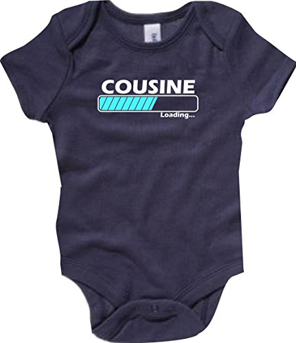 Shirtstown Baby Body Cousine Chargement - Bleu, 3-6Monate