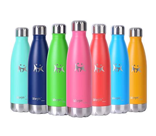 Borraccia Termica, Bottiglia Termica Senza Bottiglia Acqua in Acciaio Inox, Senza BPA Vuoto Isolato Borraccia Termica in Metallo Bottiglia Termos Acqua 500ml 750ml, Riutilizzabile (500ml, Rosa)