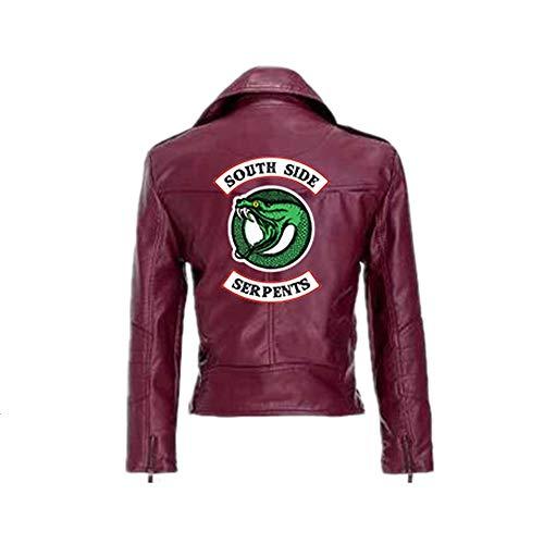 ZZBM Riverdale South Side Serpientes Mujer Impreso Chaqueta Jacket De Motocicleta De Cuero
