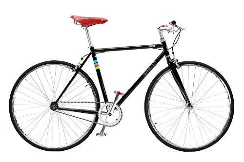 Bibóo Bikes Gekko Vintage Bicicleta Fixie, Unisex Adult, Negro, L