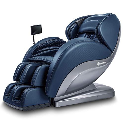 Real Relax Superior Massagesessel, 3D Shiatsu Ruhesessel mit Android-Bedienteil, SL-Track, Bodyscan, 24 Massagefunktionen, Wärmefunktion, Zero Gravity für Hause Büro(Blau)