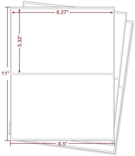 MFLABEL Round Corner Half Sheet Self Adhesive Shipping Labels for Laser & Inkjet Printers, 1000 Count