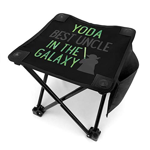 Best Uncle in The Galaxy Small Camping Stool, Fishing Travel Outdoor Folding Stool, Portable Stool for Camping Walking Hunting Hiking Picnic Garden BBQ