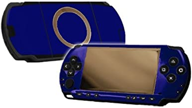Cobalt Blue Vinyl Decal Faceplate Mod Skin Kit for Sony PlayStation Portable 1000 (PSP) Console by System Skins