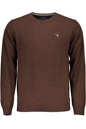 GANT Jersey de lana de cordero para hombre Marrón marrón XXL