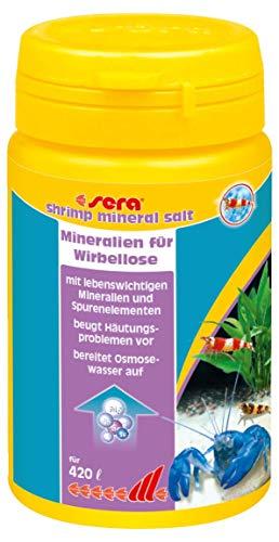 sera 03398 shrimps mineraal zout 105 g - speciaal ontwikkeld voor de behoeften van garnalen