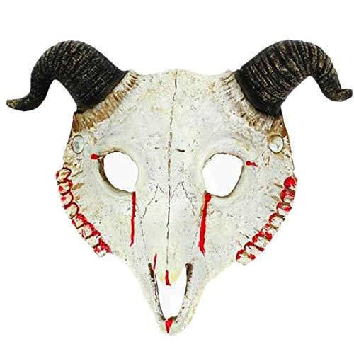 Máscara Cráneo Cabra Goma Halloween