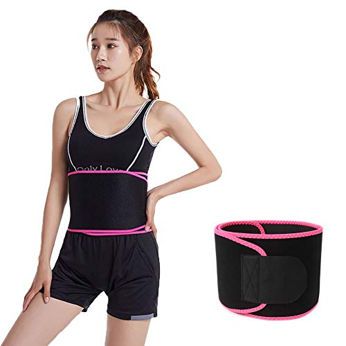 Belly Wrap Compression Band, Sweat Waist Trimmer Belt, Tummy Trainer, Stomach Fat Burner Low Back and Lumbar Support with Sauna Suit Effect Best Abdominal TrainerL