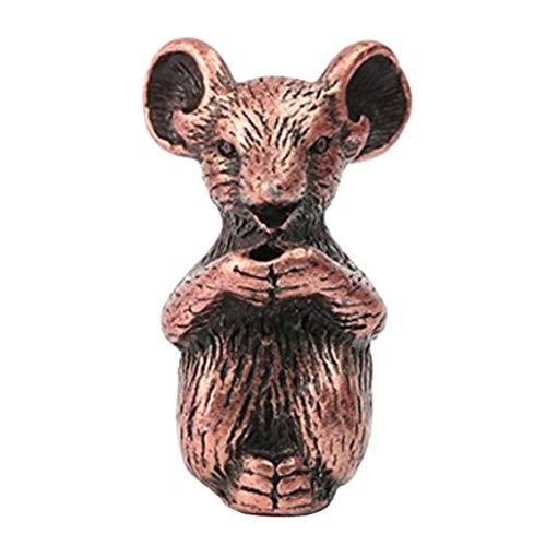 Homyl Statues En Bois De Zodiaque à 12 Statues Animales Support De Bâton Sculptées à Main - Rat